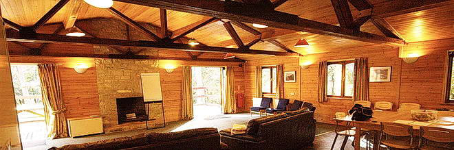 Interior of The Lodge where we hold our NLP Courses in the New Forest