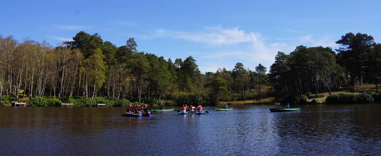 Raft sailng on the Main Lake - New Forest UK