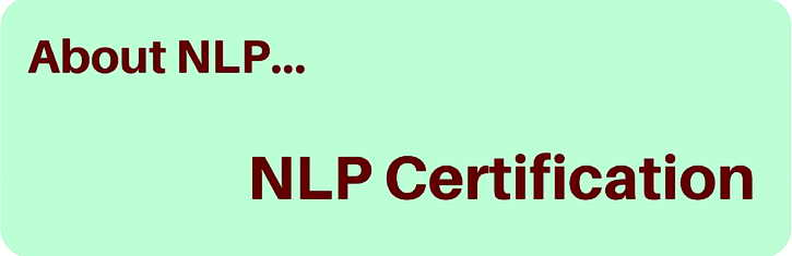 About NLP Certification