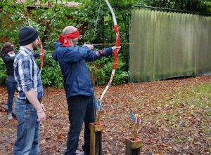 'Blindfold Archery' on our NLP Practitioner Training Programme (2)